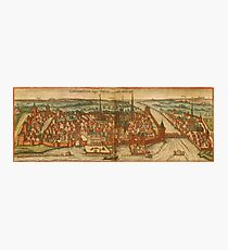 Konstanz Vintage map.Geography Germany ,city view,building,political,Lithography,historical fashion,geo design,Cartography,Country,Science,history,urban Photographic Print
