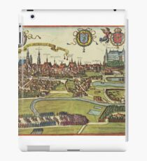 Krakow Vintage map.Geography Poland ,city view,building,political,Lithography,historical fashion,geo design,Cartography,Country,Science,history,urban iPad Case/Skin