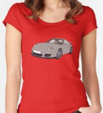 Porsche 911 Always on Top Gears cool wall Women's Fitted Scoop T-Shirt