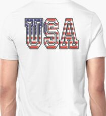 USA, Stars and Stripes, United States of America, Flag, Patriot, America, American, US, on WHITE T-Shirt