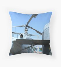 military helicopter Throw Pillow