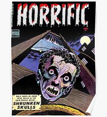 Horrific Tales comic cover Poster