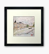 Paris Seine River Framed Print