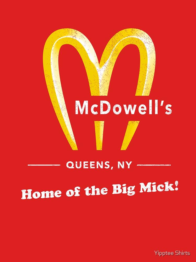 McDowells Restaurant Queens Großes Mick T-Shirt von dumbshirts