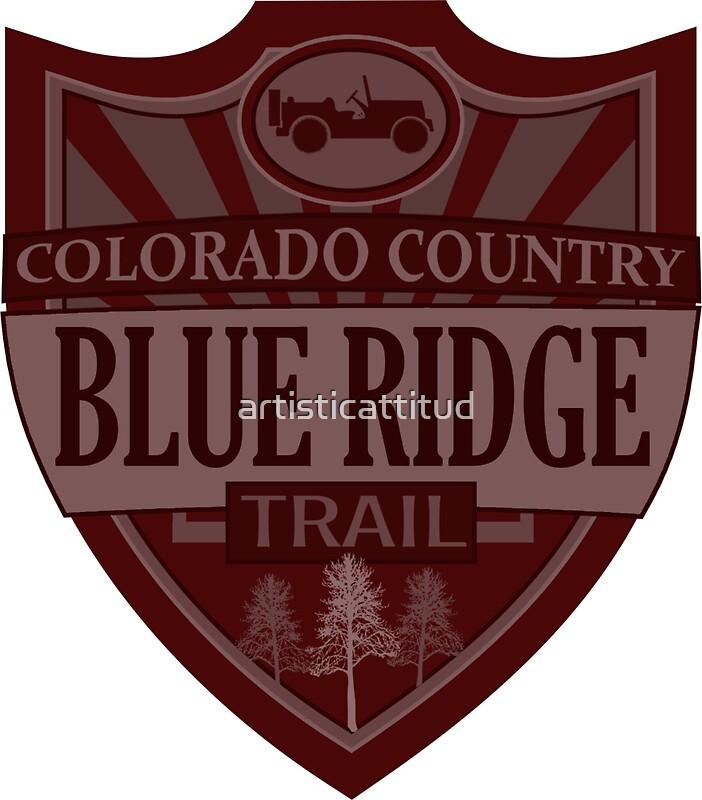 """Blue Ridge Colorado Offroad Jeep Trail"" Stickers By"