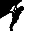 rock climber silhouette by mindgoop