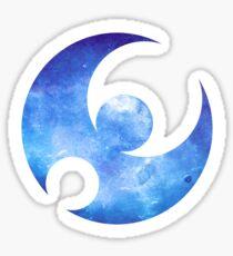 Pokémon Moon Logo Space Sticker