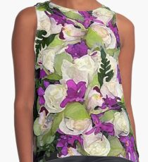 Tropical Bouquet Print Contrast Tank