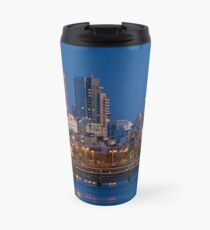 city lights and twilight hour at Tel Aviv Travel Mug