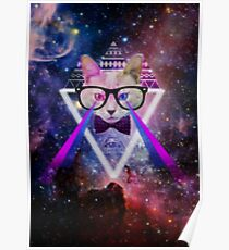 Illuminati space cat warrior Poster