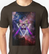 Illuminati space cat warrior T-Shirt