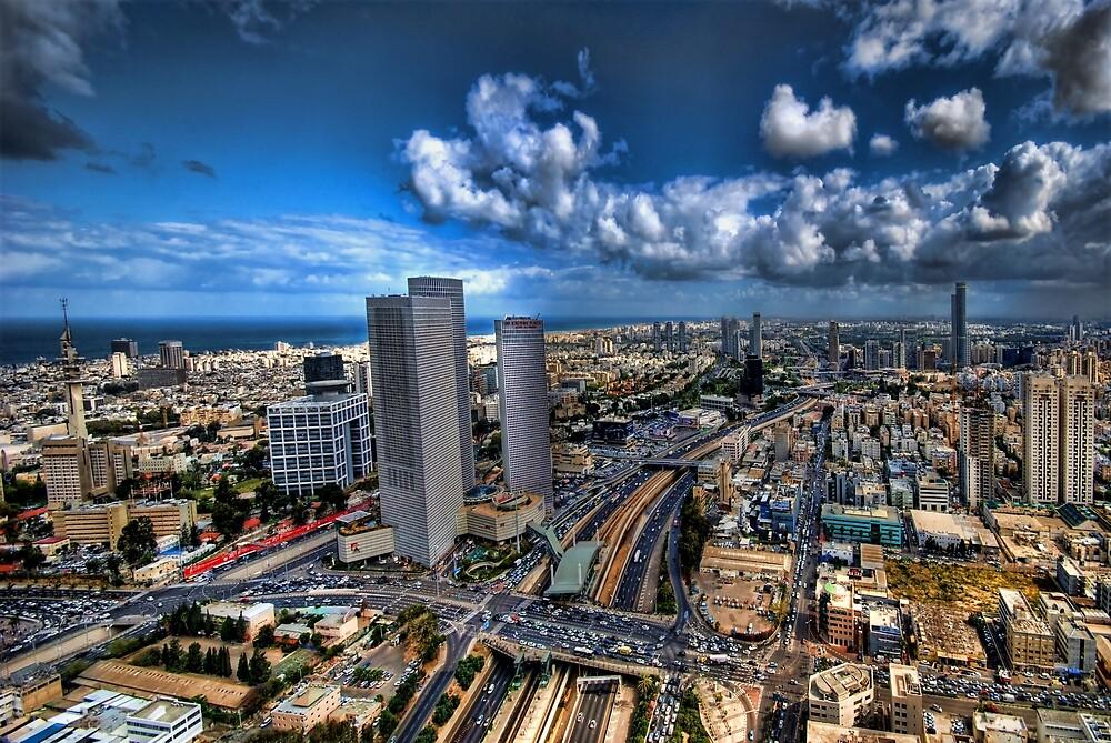 Tel Aviv, sunrise over the city by Ronsho