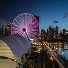 The new navy pier at dusk  by Sven Brogren