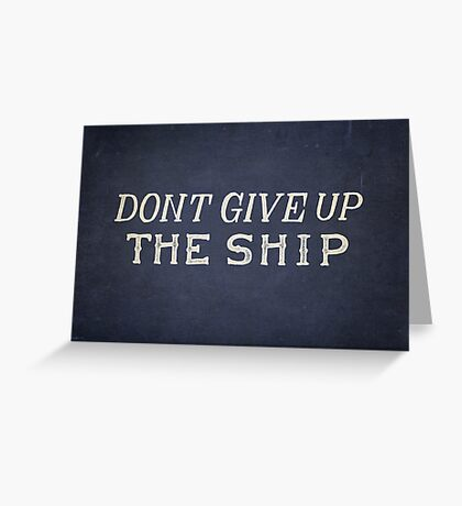 Commodore Perry Dont Give Up The Ship Greeting Card