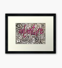 Adventure Zentangle Framed Print