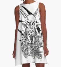 Goatlord Metal Claw Strike A-Line Dress