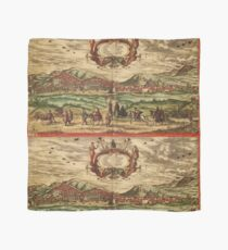 Granada Vintage map.Geography spain ,city view,building,political,Lithography,historical fashion,geo design,Cartography,Country,Science,history,urban Scarf