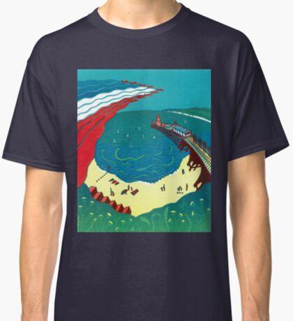 Red Arrows, Bournemouth Beach - Original linocut by Francesca Whetnall Classic T-Shirt