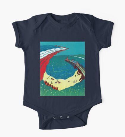 Red Arrows, Bournemouth Beach - Original linocut by Francesca Whetnall Kids Clothes