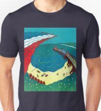 Red Arrows, Bournemouth Beach - Original linocut by Francesca Whetnall Unisex T-Shirt