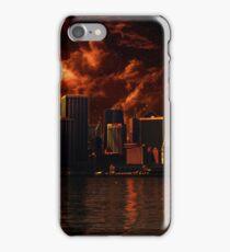 Orange After World City ( Landscape ) iPhone Case/Skin