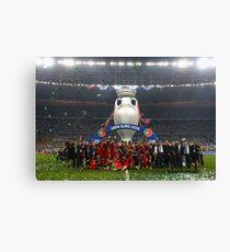 Portugal celebration euro 2016 Canvas Print