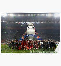 Portugal celebration euro 2016 Poster