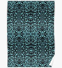Tribal Pattern ( Blue ) Poster