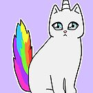 Rebel the Unicorn Cat – Sitting by riotcakes