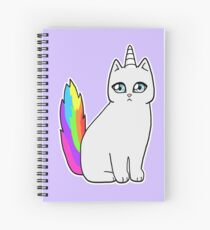 Rebel the Unicorn Cat – Sitting Spiral Notebook