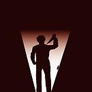 Michael Myers inspired Halloween Duvet Cover by Carl Huber