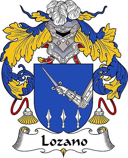 Lozano Coat of Arms/ Lozano Family Crest by William Martin
