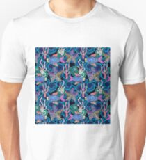 Sea life colorful mosaic. Unisex T-Shirt