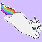 Rebel the Unicorn Cat – Jumping by riotcakes