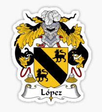 Lopez Coat of Arms/Family Crest Sticker