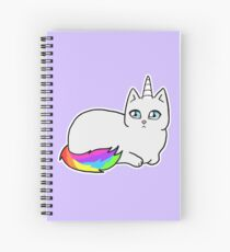 Rebel the Unicorn Cat – Lying Down Spiralblock