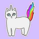 Rebel the Unicorn Cat – Standing by riotcakes