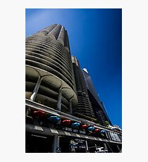 Looking up at Marina Towers Photographic Print
