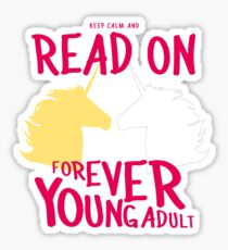 Keep Calm and Read On, FYA Sticker