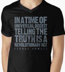 ORWELLIAN TRUTH Men's V-Neck T-Shirt