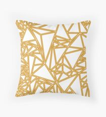Orange Oragami Throw Pillow