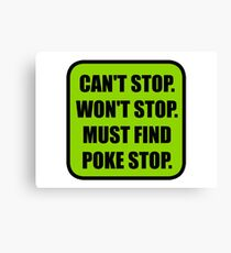 Poke Stop Canvas Print