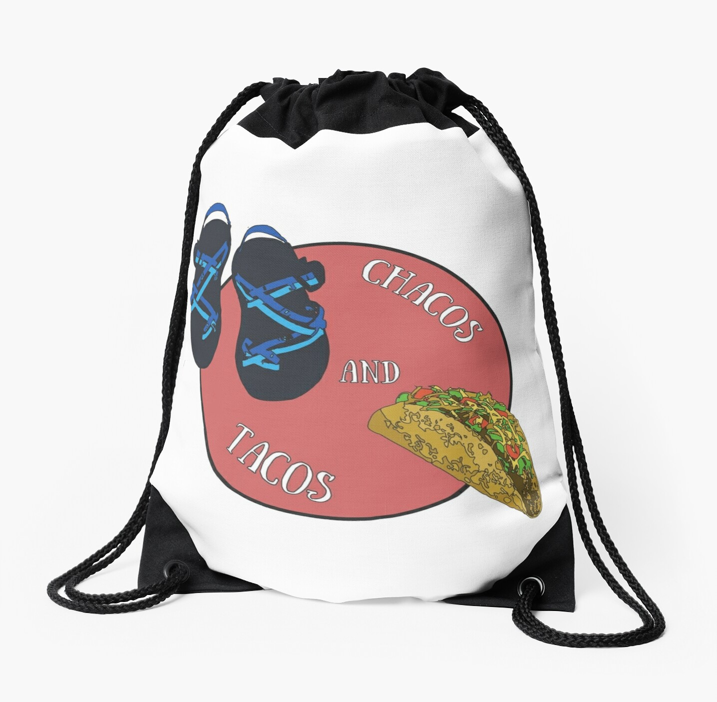 chacos and tacos drawstring bags by aliciamo redbubble
