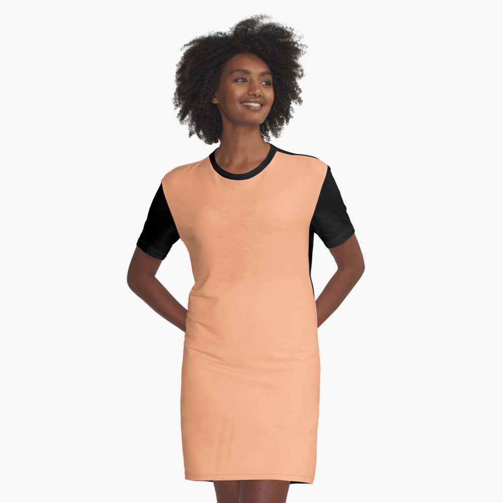 Peach Cobbler  Graphic T-Shirt Dress