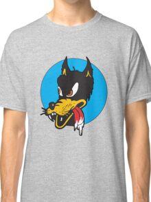 Rockabilly Cartoon Wolf Classic T-Shirt