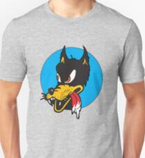 Rockabilly Cartoon Wolf Unisex T-Shirt