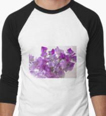Lavender Sweet Peas Men's Baseball ¾ T-Shirt
