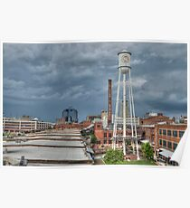 Lucky Strike in Downtown Durham Poster