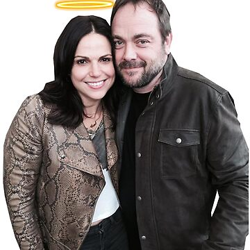 Lana Parrilla and Mark Sheppard with halos by meggie1tr
