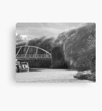 Cambridge River Bridge Phone Case Metal Print